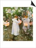 Chinese Lanterns  Girls  1885