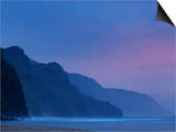 Na Pali Coast from Ke's Beach  on the Island of Kauai  Hawaii  United States of America