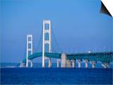 Mackinac Bridge  Mackinaw City  Michigan  USA