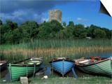 Boats  Lough Corrib  County Mayo  Ireland