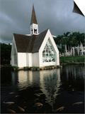 Church and Koi Pond  Wailea Beach  Maui  Hawaii  Hawaiian Islands  USA