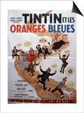 Movie Poster: Tintin et Les Oranges Bleues  1964