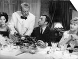 Jean Gabin  Philippe Noiret  Liselotte Pulver and Berthe Granval: Monsieur  1964
