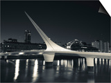 Buildings with a Footbridge at the Port  Puente De La Mujer  Puerto Madero  Buenos Aires  Argentina