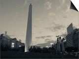Low Angle View of a Monument  El Obelisco  Plaza De La Republica  Buenos Aires  Argentina