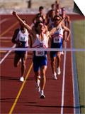 Runner Celebrates at the Finish Line