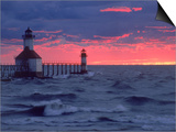 Sunset  Lighthouse  Benton Harbor  MI