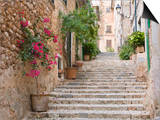 Flight of Steps in the Heart of the Village Fornalutx Near Soller  Mallorca  Balearic Islands  Spai
