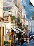 Street in Taormina  Sicily  Italy  Europe