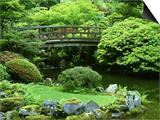 Footbridge  Japanese Garden Portland  Oregon