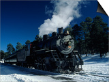 The Grand Canyon Train with Snow on Ground