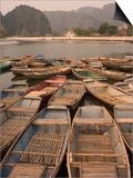 Boats  Limestone Mountain Scenery  Tam Coc  Ninh Binh  South of Hanoi  North Vietnam