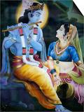 Picture of Hindu Gods Krishna and Rada  India  Asia