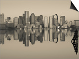 Reflection of Buildings in Water  Boston  Massachusetts  USA