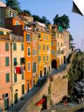 Village of Riomaggiore  Cinque Terre  Unesco World Heritage Site  Liguria  Italy