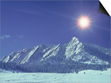 The Flatirons Near Boulder  CO  Winter