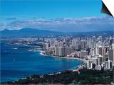 Aerial View of Oahu  Honolulu  HI
