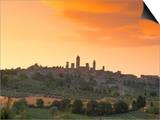 San Gimignano at Sunset  Siena Province  Tuscany  Italy  Europe