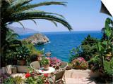 Mazzaro Beach  Taormina  Island of Sicily  Italy  Mediterranean