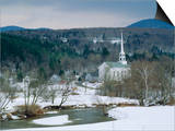 Winter in Stowe  Vermont USA