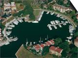 Aerial View of Hilton Head Harbour Town  South Carolina  USA