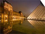 Palais Du Louvre Pyramid at Night  Paris  France  Europe