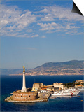 Madonnina Del Porto Statue  Port of Messina  Island of Sicily  Italy  Mediterranean  Europe