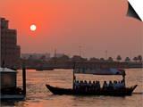 Abra Water Taxi  Dubai Creek at Sunset  Bur Dubai  Dubai  United Arab Emirates  Middle East
