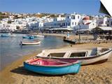 Fishing Boats in Mykonos Town  Island of Mykonos  Cyclades  Greek Islands  Greece  Europe