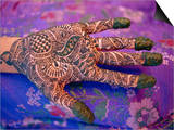 Hand Decorated with Design in Henna  Rajasthan  India