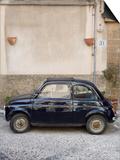 Fiat 500 Car  Cefalu  Sicily  Italy  Europe