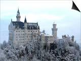 Neuschwanstein Castle in Winter  Schwangau  Allgau  Bavaria  Germany  Europe