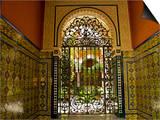 Beautiful Sevillan Patio  Triana District  Sevilla  Andalusia  Spain  Europe