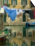 Laundry Hung over Canal to Dry  the Ghetto  Venice  Veneto  Italy  Europe