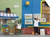 Vendor on El Caminito Street in La Boca District of Buenos Aires City  Argentina  South America