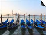 Gondolas on the Lagoon  San Giorgio Maggiore in the Distance  Venice  Veneto  Italy