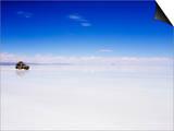 Four Wheel Drive (4Wd) Tour Group on Salir De Uyuni  Salt Flats  Bolivia  South America