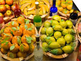 Window Display of Traditional Marzipan Fruits and Grappa  Taormina  Sicily  Italy  Europe