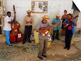 Old Street Musicians  Trinidad  Cuba  Caribbean  Central America