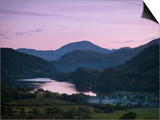 Looking Down the Gwynant Valley over Llyn Gwynant at Dusk  Wales  United Kingdom  Europe