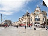 The Place De La Comedie  Montpellier  Languedoc-Roussillon  France  Europe