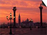 View across St Marks Square Towards San Giorgio Maggiore at Sunrise  Venice  Veneto  Italy