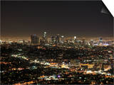 Downtown  Hollywood at Night  Los Angeles  California  United States of America  North America