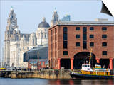 Royal Liver Building and Albert Docks  UNESCO World Heritage Site  Liverpool  Merseyside  England