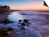 Rocks and Beach at Sunset  La Jolla  San Diego County  California  USA
