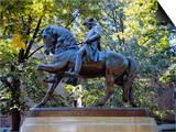 Statue of Paul Revere Near Old North Church  Boston  Massachusetts  USA