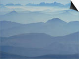 View from Mount Ventoux Looking Towards the Alps  Rhone Alpes  France  Europe