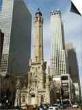 The Historic Water Tower  Near the John Hancock Center  Chicago  Illinois  USA