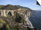 Bixby Bridge  Along Highway 1 North of Big Sur  California  United States of America  North America