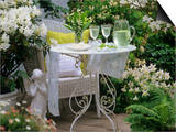 Meringues and Woodruff Punch on Romantic Garden Table